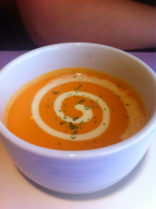 Japanese Fusion Food: carrot cream soup