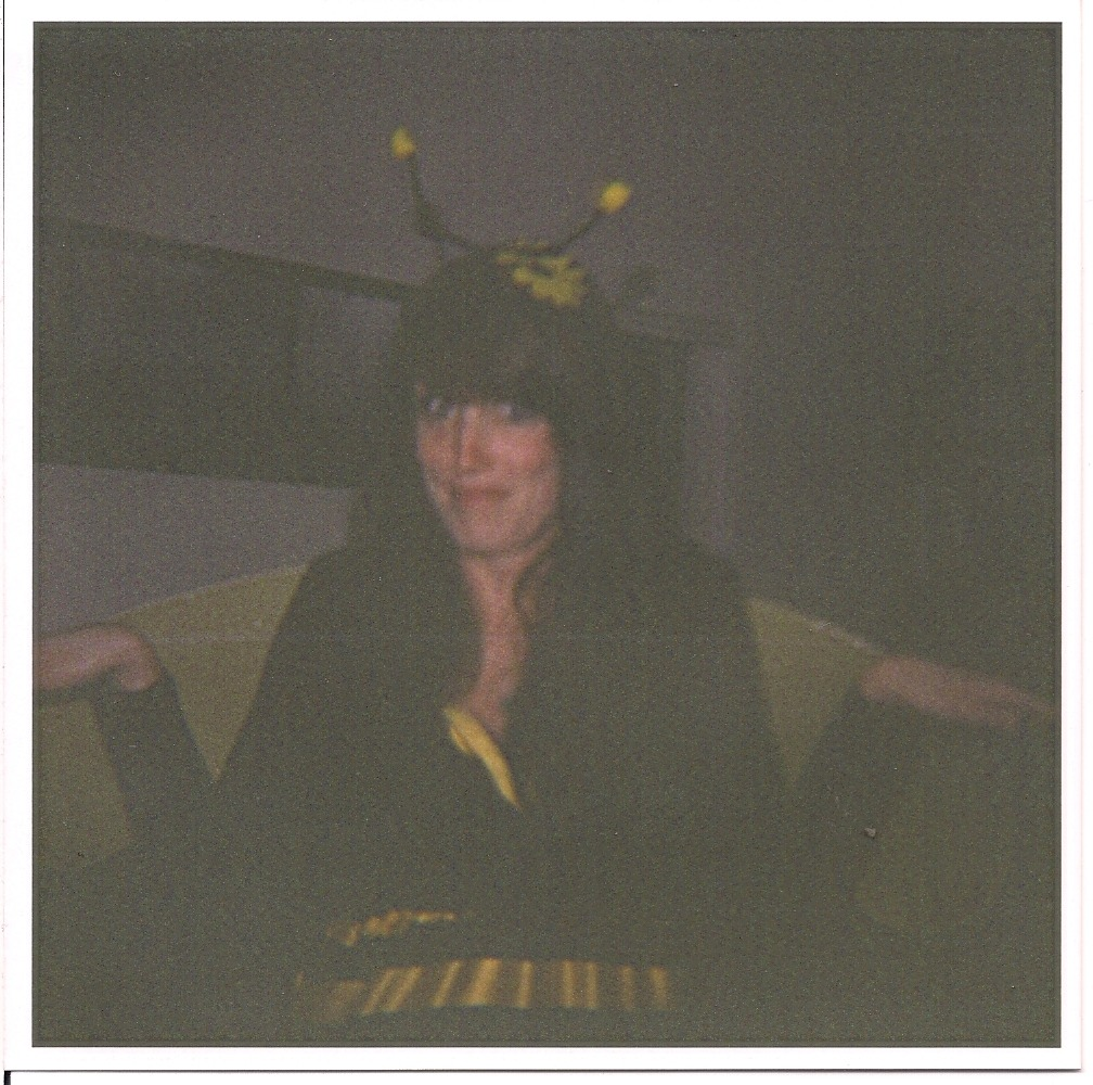 Jessica as a bee, Brit's Halloween Party, October 2011 Calgary, AB
