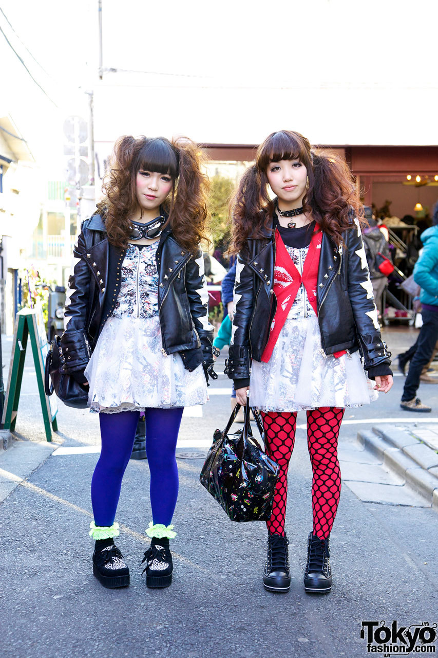tokyo-fashion:  Cute Glad News x TutuHa pair look girls in Harajuku.