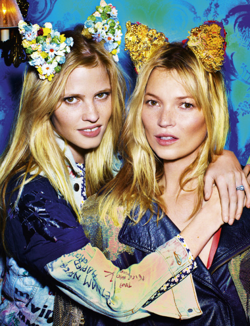 LOVE MAGAZINE S/S 2012 PHOTOGRAPHER: MARIO TESTINO MODELS: LARA STONE & KATE MOSS