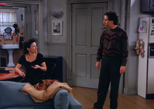 Elaine: Hey, do you believe I got happy new year'd today? It's February! Jerry: I once got happy new year'd in March! Elaine: It's digusting. Jerry: It's pathetic.