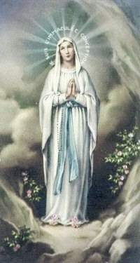 Our Lady of Lourdes, pray for and welcome my friend, Duke, celebrating Your feast for the first time in Heaven!!!