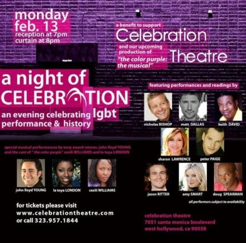 February 13, 2012: Matt will be performing in the Celebration Theatre benefit event in Los Angeles. Tickets. MDW main site TwitterFacebook PageYouTube