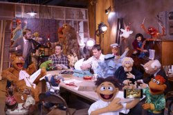 James Bobin, Jason Segel, Nicholas Stoller and Bret McKenzie The Muppets (2011)  I want to go to there.