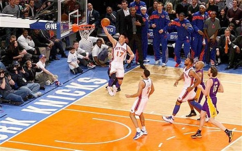 Jeremy Lin, Point Guard for the New York Knicks; has a Harvard education; breaking records in basketball.
