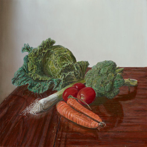 Still Life with Vegetables (Study of La Naturalidad Contemplativa) Oil on Wood Panel, 40 x 40 cm Javier Marchán, 2010 Copyrighted image, all rights reserved