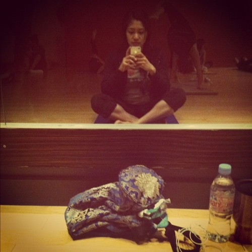 Morning yoga - #selfportrait #self #yoga #iphonesia #ignation #iphone #iphoneography #peace #relax (Taken with instagram)