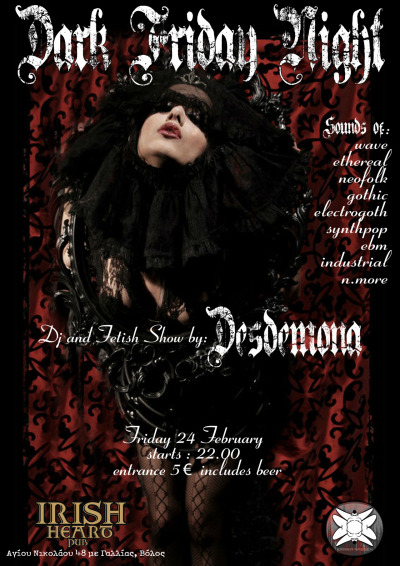 Created for Dark Friday Night w/Desdemona @IrishHeartPub.