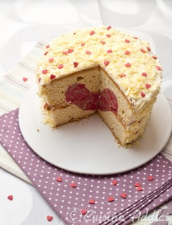 Vanilla cake with Raspberry Heart