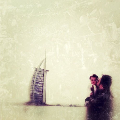 Me, My son & Burj al Arab #iphoneography #iphoneonly #iphoneart #instagram #ig #dad #child #burjalarab #dubai #fatherhood #igers #ink361 #jj (Taken with instagram)