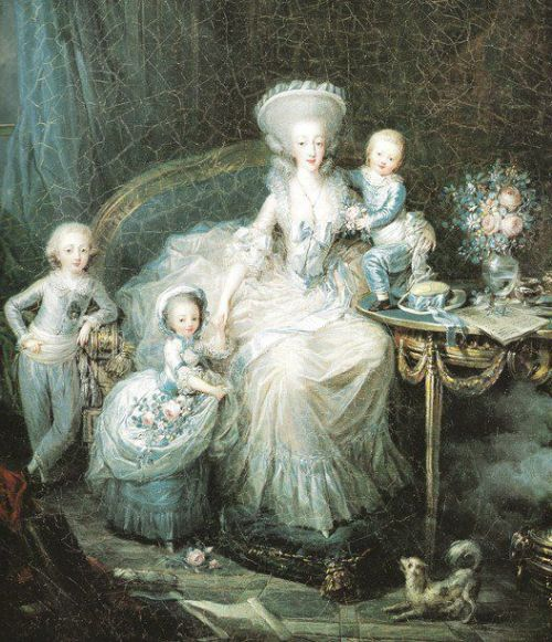 The Comtesse d'Artois and her children in 1783 Charles Leclercq