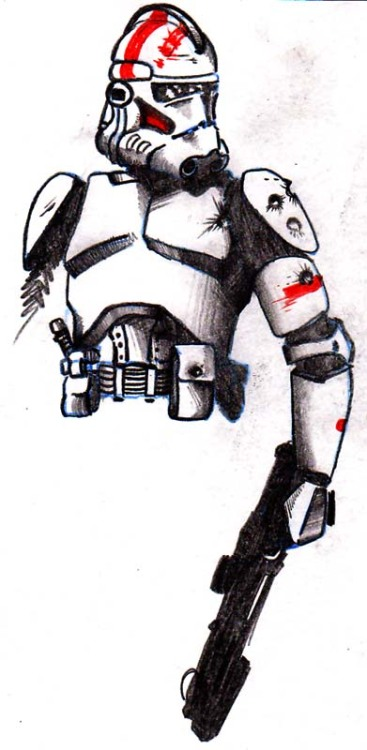 Clone trooper.  I don't watch Star Wars: The Clone Wars as often as one might think, but when I do, I'm always impressed with how bad ass the clone troops are.