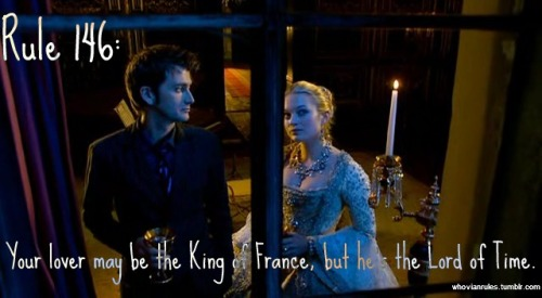 Rule 146: Your lover may the King of France, but he is the Lord of Time.  [Image Credit]