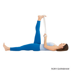 yogapractice:  Reclining Pigeon | Supta Padangusthasana Benefits  Stretches hips, thighs, hamstrings, groins, and calves Strengthens the knees Stimulates the prostate gland Improves digestion Relieves backache, sciatica, and menstrual discomfort Therapeutic for high blood pressure, flat feet, and infertility  via Yoga Journal