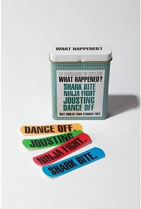 what happened bandaids…perfect for making campers happy again!