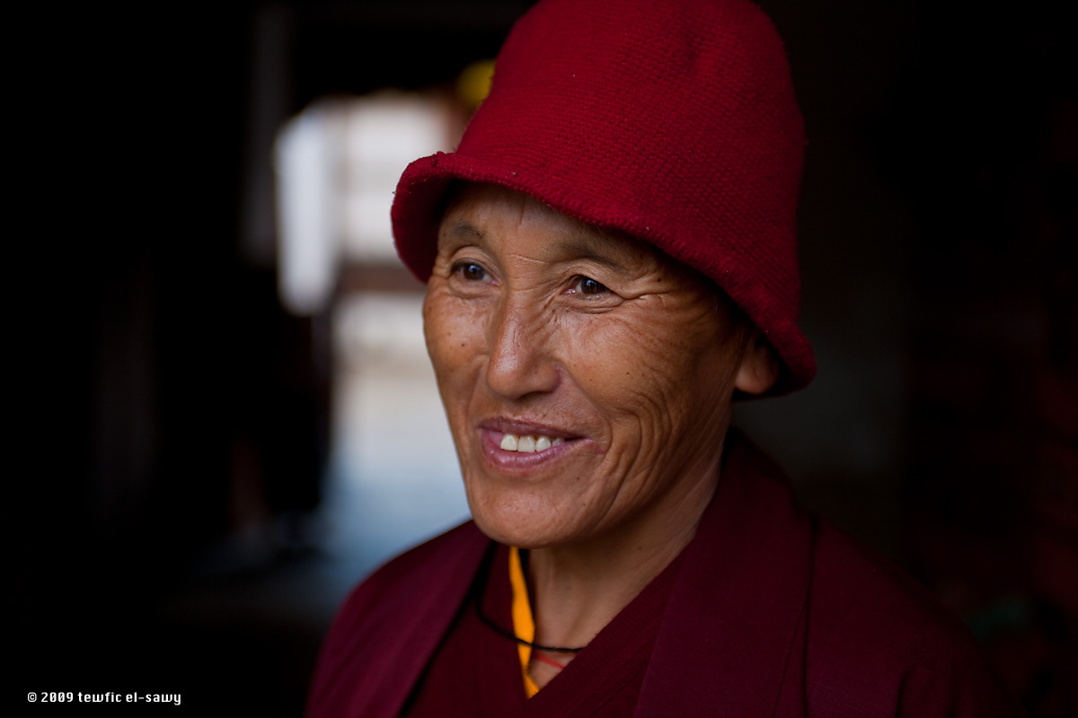 Buddhist Nun, Jakar (Bhutan). Photo © Tewfic El-Sawy