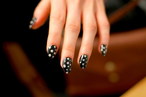 No words for the polkadot nails by Deborah Lippmann at Kate Spade FW12!  You can see more of the collection over at Holier. Image - The Greyest Ghost for CofP.