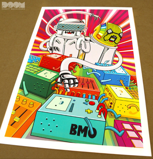 Limited Edition Adventure Time x Daft Punk 3 Fan Art Poster.