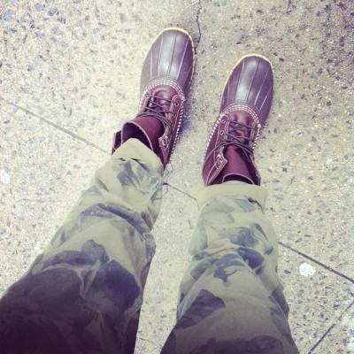 missjennab:  Straight gangsta wit da floral camo and bean bootz (Taken with instagram)