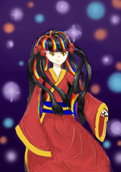 A girl in a kimono by ~Crashing-Star