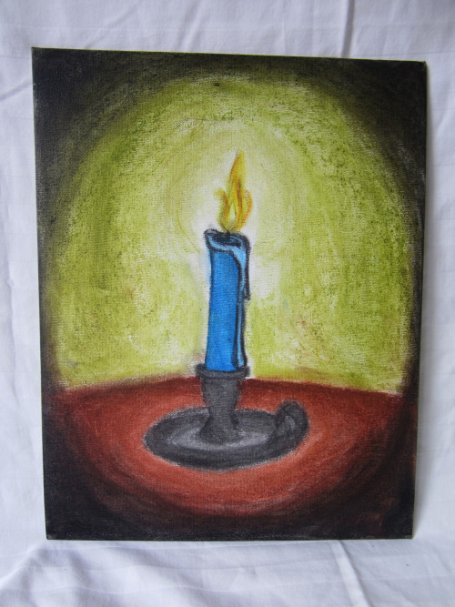 "LIGHT IN THE DARK  Chalk Pastel on 11"" x 14"" CanvasSigned Original$30 USD or Offer Story/Description: Apparently stress does wonders for my art."