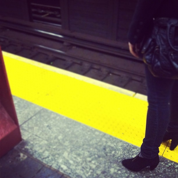Waiting #transit #city #nyc #life #subway #newyork  (Taken with instagram)