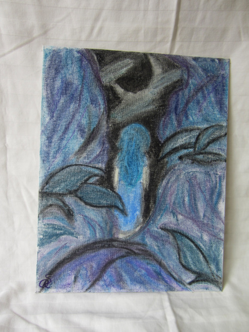 "MOONLIT WANDER  Chalk Pastel on 11"" x 14"" CanvasSigned Original$15 USD or OfferStory/Description: Inspired by this song, and a play in shades of blue."