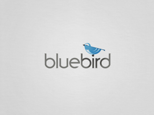 logo design for bluebird scrubs.