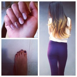 Hair did, #nails did, erthang did. ready for #vegas #ombre #manicure  (Taken with instagram)