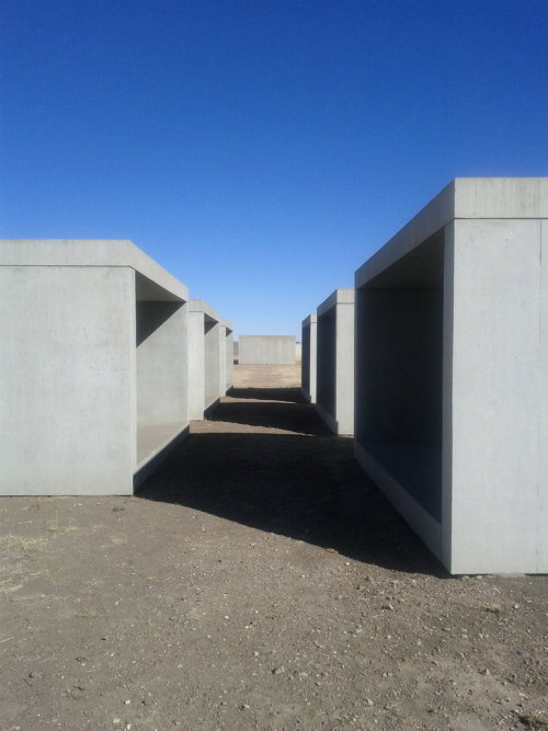 Donald Judd.  #wwdjd (Taken with picplz at The Chinati Foundation in Marfa, TX.)