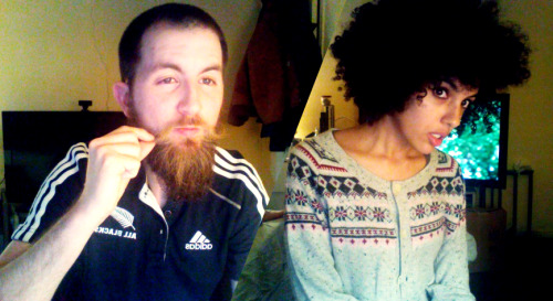 My husband and I are both camera whores ♥ And we both love our hair ~