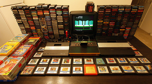 djvillan69:  dotcore:  Atari Collection.Photo by Bryan.  I think my eyes just came!