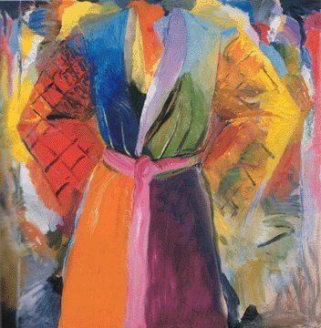 The Robe Following Her 4 by Jim Dine, 1984-85. Jim Dine was one of my favourite artists when I was studying GCSE art. I love his painterly form of colour-blocking and the juxtaposition of shapes; it almost looks as thought the dressing robe is made up of separate pieces, rather than a whole garment.