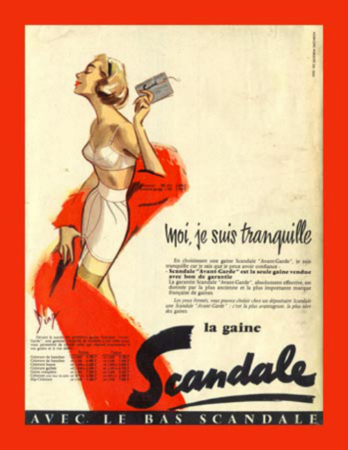 hoodoothatvoodoo:  Scandale French Lingerie Advertisement