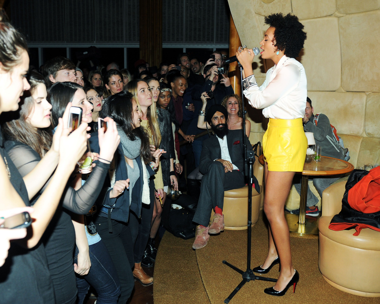 Waris + Solange Knowles at the Top of The Standard last night - by BFA