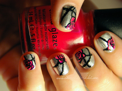 Rose Among Thorns nail art