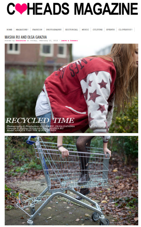 "Our project ""Recycled time"" with Olga Ganzha at C-Heads magazine"