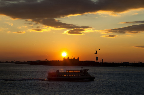 Ellis Island sunset by Dan Nguyen @ New York City on Flickr.