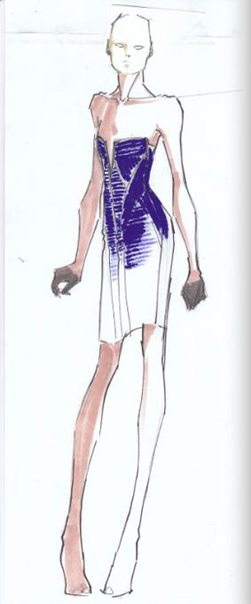 New York Fashion Week - Hervé Léger Fall 2012 Inspiration: Restraint, seduction and control