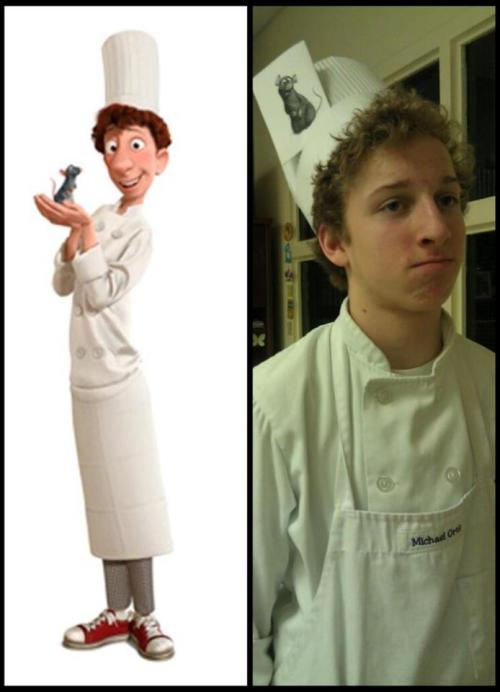 So… There is this kid in my culinary class who has a striking resemblance to a certain animated chef.  Linguine! And yes, we do call him that. - Little Chef