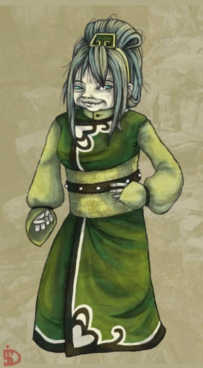 Had to draw old Lady Toph after me and my brother conversed about what Toph would be like if she was still alive in The Legend of Korra.