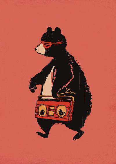 Boombox Bear by Budi Satria KwanPrints available at society6