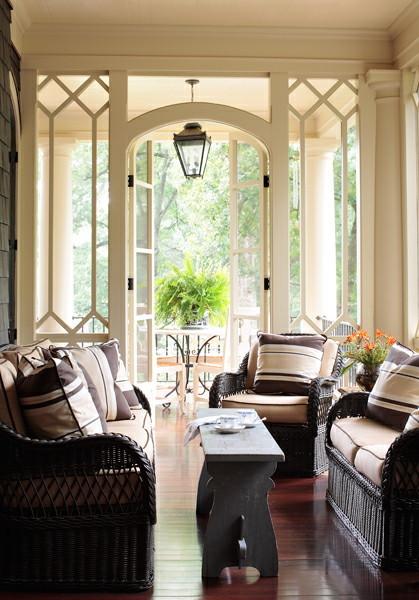 georgianadesign:  Peachtree Heights porch by Liz Williams.