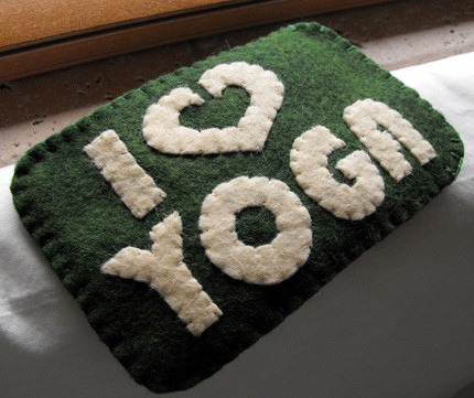 I LOVE YOGA iPhone iPod Gadget Case (by SarahandLuiza)