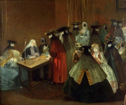 ornamentedbeing: 18th century, Follower of Pietro Longhi (Italian, 1702–1785) ~ Bal Masque, oil on canvas; gift of Lily Carstairs, 1952.62