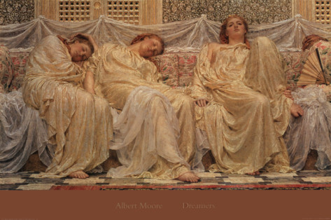 1882 Albert Joseph Moore (English Classicist, 1841-93) ~ Dreamers
