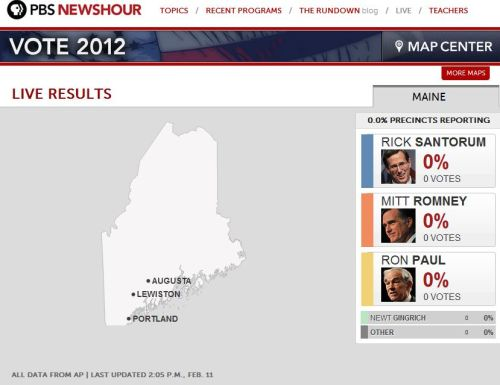 Maine's GOP Caucuses wrap up today. Tune in to this map at around 7 p.m. ET for full state results to see who wins.