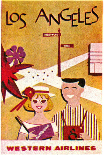 old-ads-and-mags:  Los Angeles Western Airlines Poster