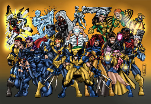 fuckyeaharchangel:  X-Men Group Shot by Alejandro Roger and Marc Bourcier