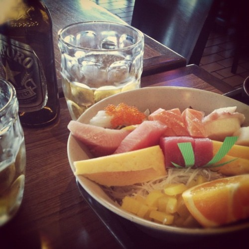 Fresh fish and beer, swoon. (Taken with Instagram at Yo Sushi)